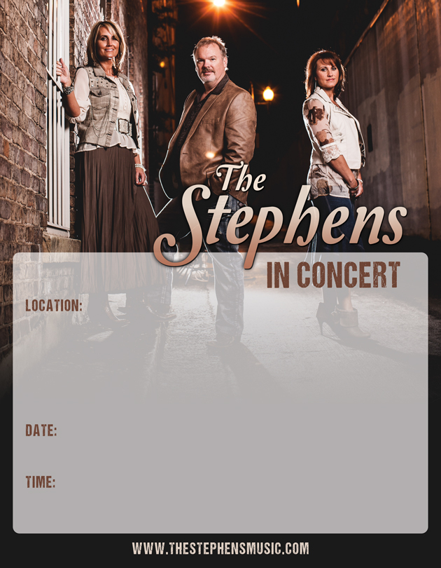 The Stephens Concert Poster