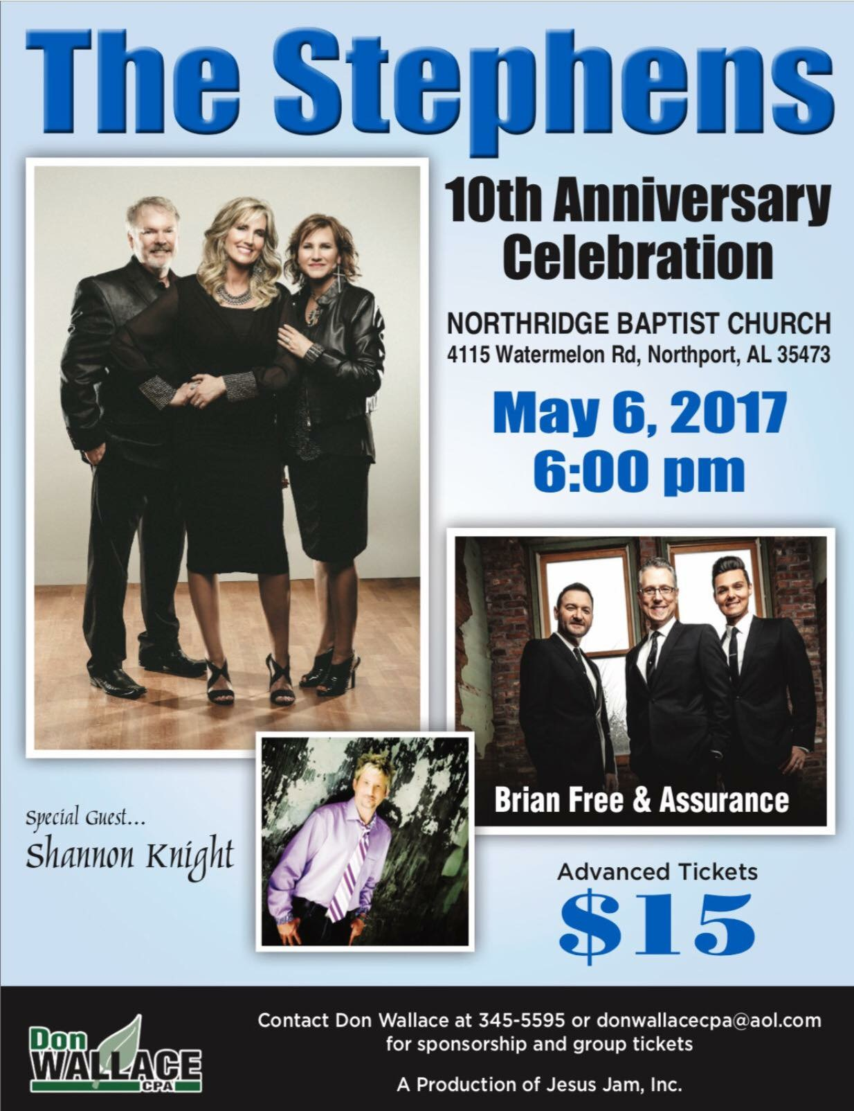 Th anniversary celebration the stephens gospel music